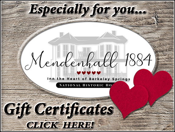 Mendenhall 1884 Gift Certificates - Click HERE!